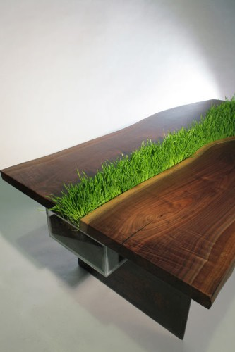 Modern Eco-Friendly Table Doubles as a Planter