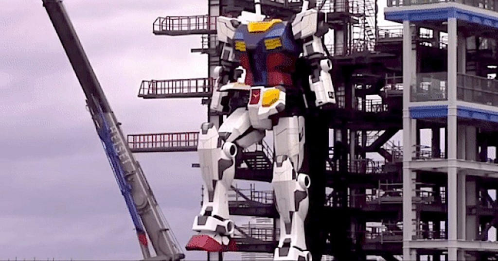 Giant 60-Foot-Tall 'Gundam' Robot Takes Its First Steps in Japan