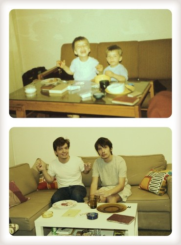 Two Sons Recreate 20-Year-Old Pictures for Their Mom