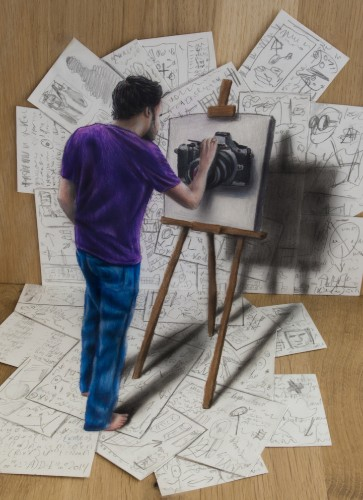 New 3D Optical Illusion Drawings by Ramon Bruin