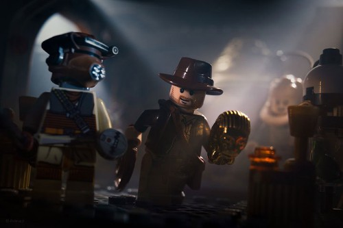 Dramatic LEGO Recreations of Star Wars and Indiana Jones