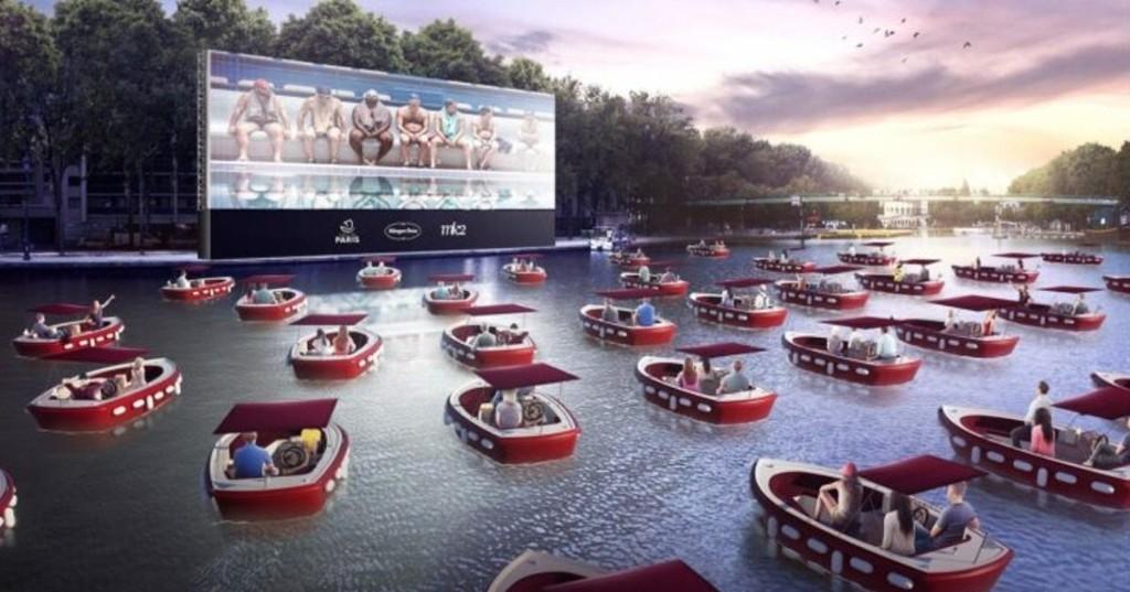 Paris Transforms River Seine Into a Floating Cinema for Social Distancing Fun