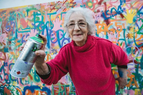 Senior Citizens Learn to Graffiti in Creative Workshop That Aims to Banish Ageist Stereotypes