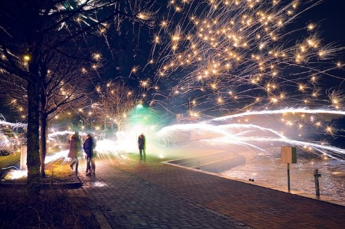 Firework's Misfire Leads to Dazzling New Year's Photo