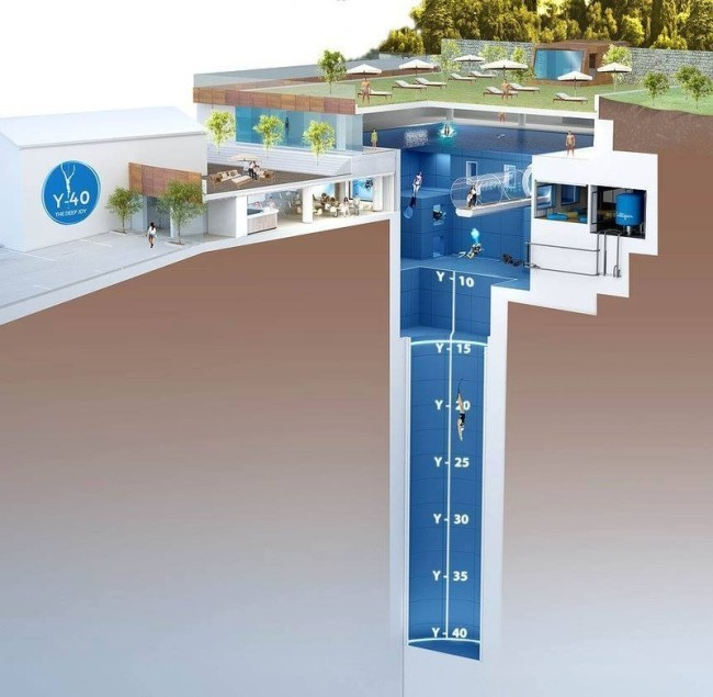 World's Deepest Swimming Pool is an Astounding 131 Feet Deep