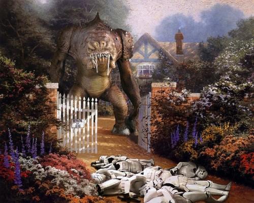 Star Wars Characters Invade Thomas Kinkade Paintings