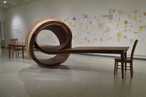 Beautifully Tangled 28-Foot-Long Table Constructed Entirely of Wood