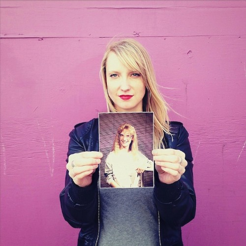 Portraits of People Holding Photos from Their Awkward Years