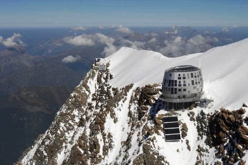 Futuristic Steel Lodge Offers Refuge for Climbers Braving Mount Blanc