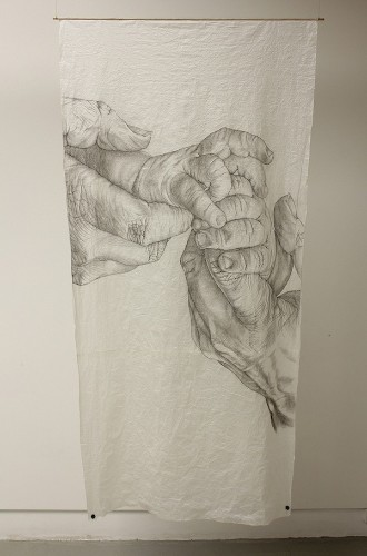Highly Detailed Drawings of Aging Hands