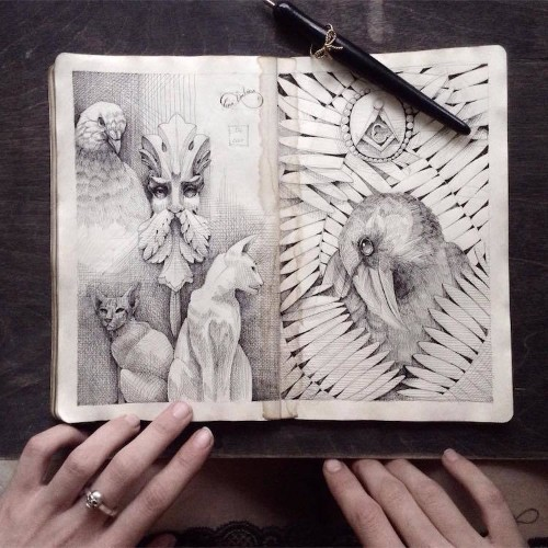 Every Page of This Artist's Sketchbook is an Elegant Work of Art