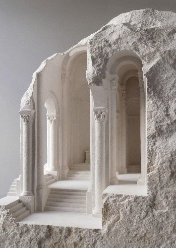 Amazing Architectural Interiors Carved into Raw Marble Blocks