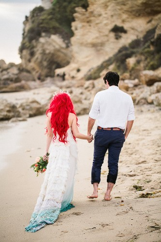 """Fantasy Wedding Photo Shoot Inspired by """"The Little Mermaid"""""""