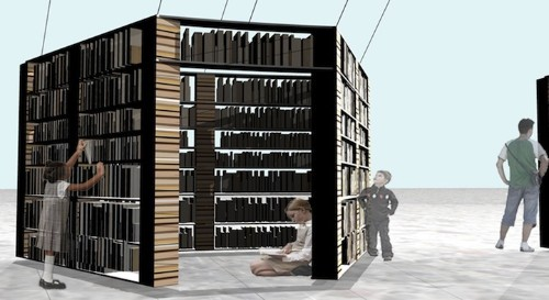 Large-Scale Pavilion Made of Books Offers Free Reading Material to All