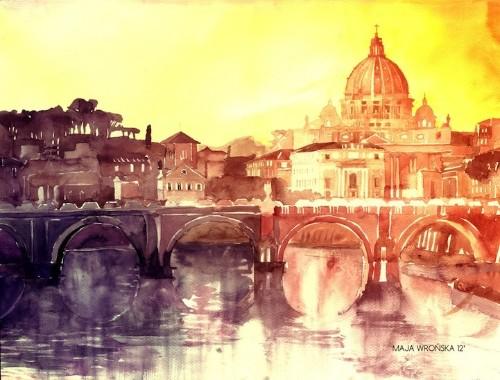 Beautiful Watercolor Paintings of European Landmarks