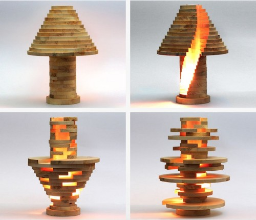 DIY Shape-Shifting Lamp Lets You Stack and Build the Lamp of Your Dreams