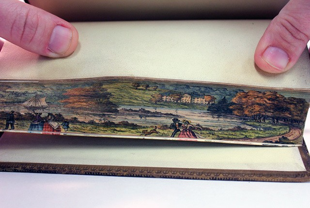 Hidden Paintings Revealed on the Fore-Edge of Old Books