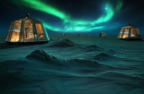You Can Spend the Night Stargazing in an Igloo Hotel on the North Pole