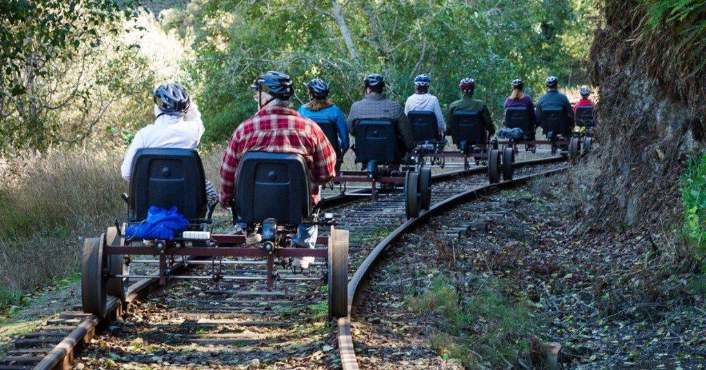 You Can Now Pedal Through California's Scenic Redwood Forest on a Railbike