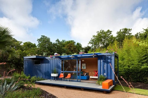 Old Shipping Crate Converted Into Sustainable Guest House