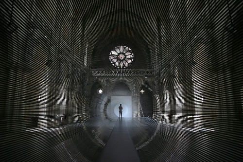 Magnetic Tape Transforms Historical Chapel into an Energetic Tunnel