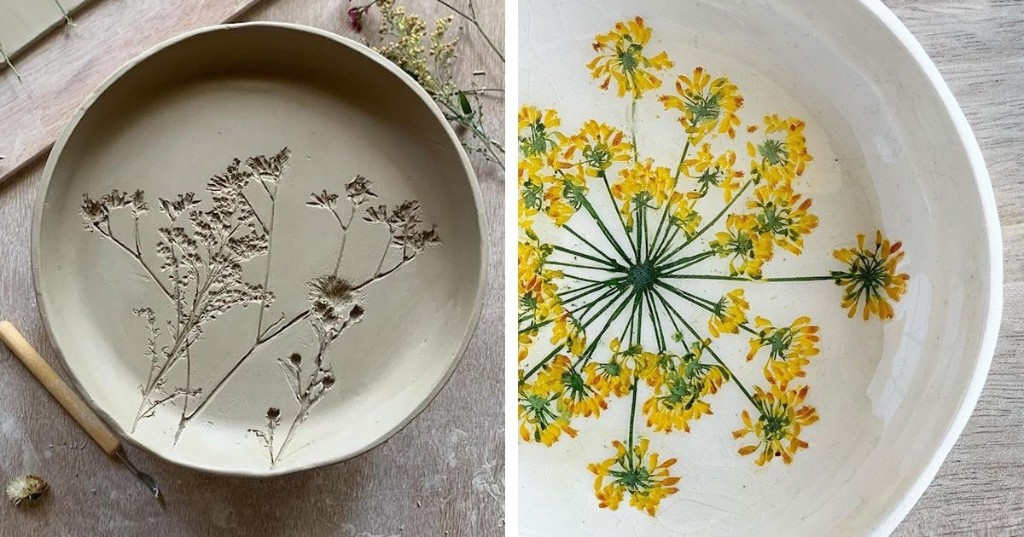 Artist Uses Real Found Flowers to Create Delicate One-of-a-Kind Ceramics