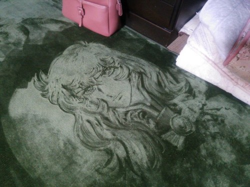 """Japanese Woman """"Draws"""" Beloved Characters on Carpets By Moving Rug Fibers Around"""