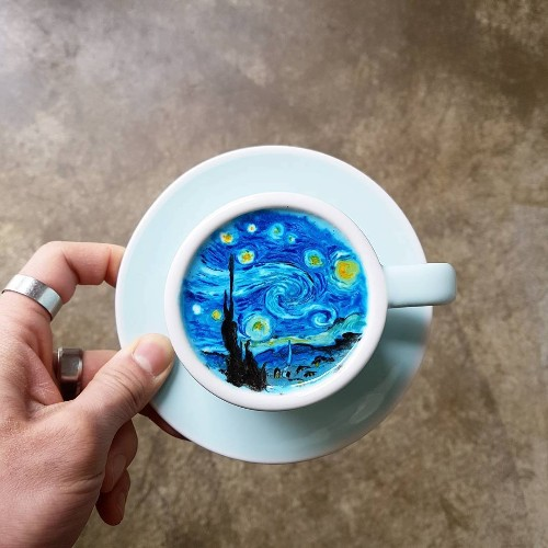 Korean Barista Turns Cups of Coffee into Amazing Works of Art