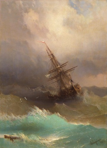 Mesmerizing Translucent Waves from 19th Century Paintings