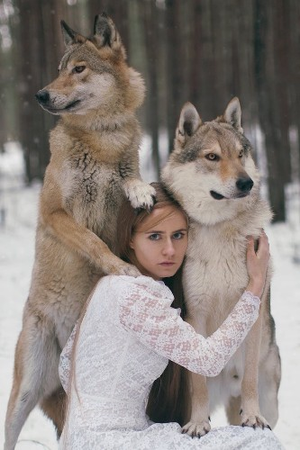 More Gorgeous Portraits of Women with Wild Animals by Katerina Plotnikova