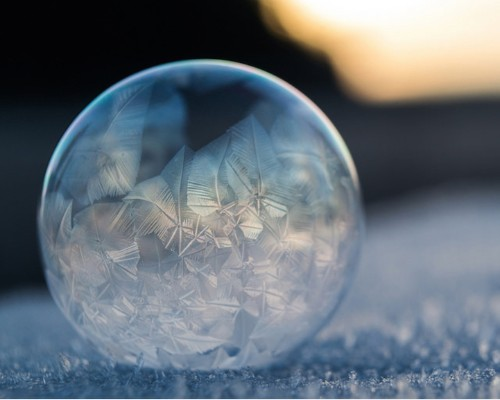 Breathtaking Frozen Bubbles Look Like Elegant Glass Ornaments