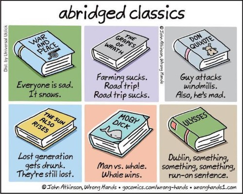 Illustrator Offers Shortcut to Classic Literature With Hilariously Brief Summaries