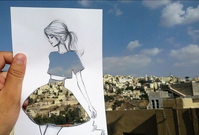 Illustrator's Ingenious Cut-Outs Turn Any Landscape into Clever Clothing Designs