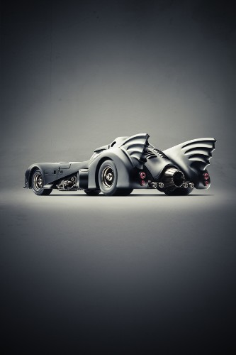 Dramatic Portraits of Iconic Superhero Cars