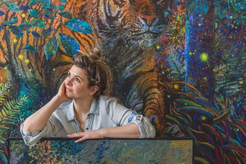 Interview: Finger Painting Artist Shares How She Creates Her Energetic Artwork for Solo Show