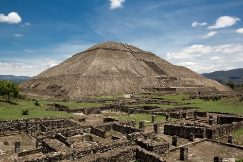 2,000-Year-Old Green Mask Found Nestled Inside an Ancient Pyramid