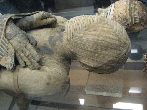 Ancient Egyptian Mummy Has Sophisticated Pattern Woven Around Head