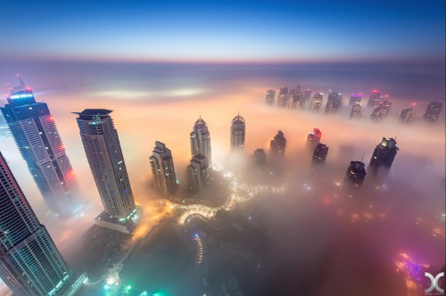 Dubai Buildings Are So High, You Can Look Down at the Clouds
