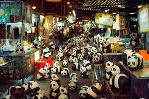 Pack of 1,600 Papier-Mch Pandas Raise Global Awareness