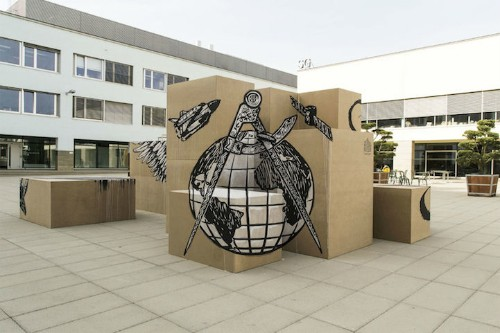 Fragmented Mural Combines Optical Illusions with Street Art Style