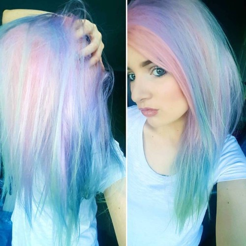 Holographic Hair Trend Has Women Adding Metallic Shine to Ordinary Locks