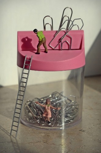 Playful Snapshots of Miniature Scenes Around the Office
