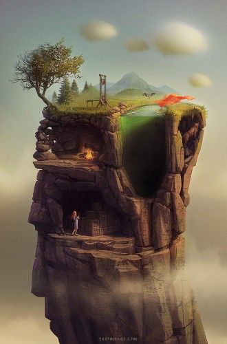 Imaginative Dreamlike Worlds by Digital Artist Gediminas Pranckevicius