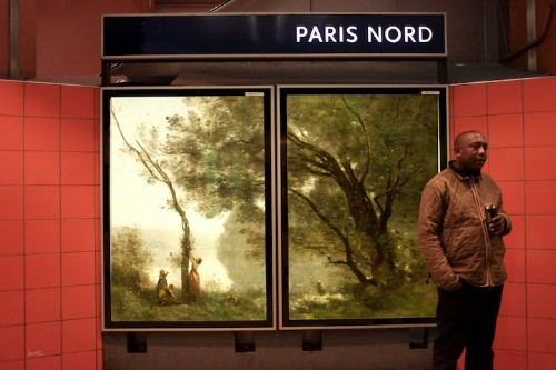 Parisian Advertisements Replaced with Classical Works of Art