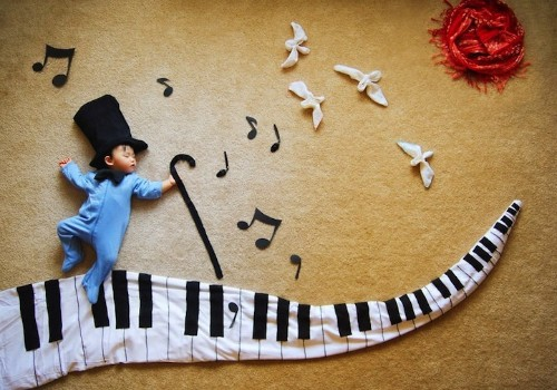 Mother Creates Adorable Adventures for Her Sleeping Son