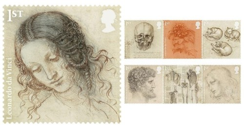 UK Unveils Special Leonardo da Vinci Postage Stamp Collection