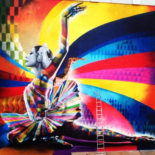 Gorgeous Mural Honors Russian Ballerina Maya Plisetskaya