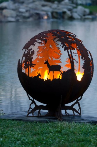 Forest Fire Pit by Melissa Crisp