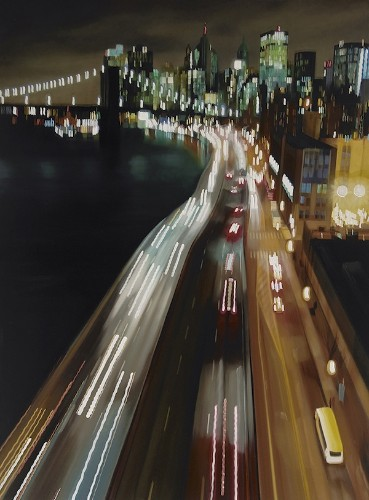 New Speeding Through NYC Oil Paintings by Alexandra Pacula