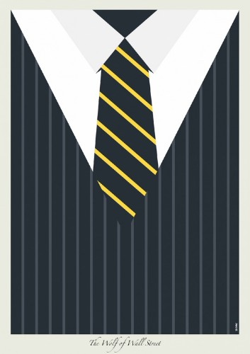 Illustrated Posters Highlight Different Suits Worn by Leonardo DiCaprio